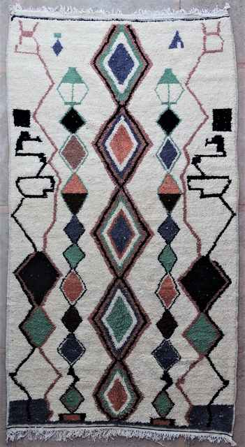 Archive-Sold Azilal and Ourika moroccan rugs AZ40020