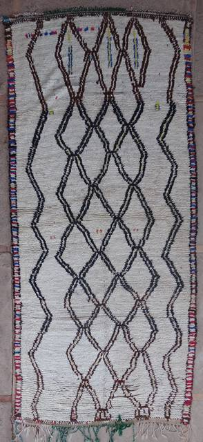 WOOL Rugs - BENI OURAIN Azilal and Ourika moroccan rugs AZ40196