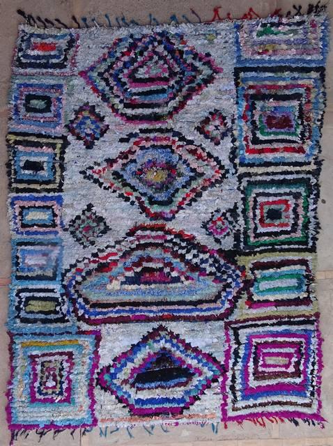 Archive-Sold Boucherouite moroccan rugs L40321 bazarchic