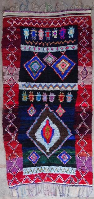 Boucherouite Large moroccan rugs L40322