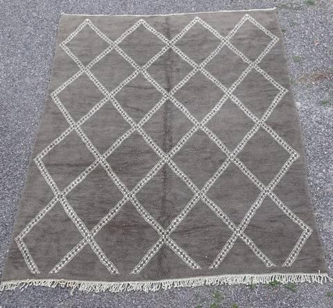 WOOL Rugs - BENI OURAIN Beni Ourain Custom made moroccan rugs grey beni ourain