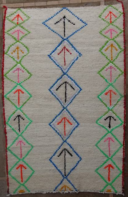 WOOL Rugs - BENI OURAIN Azilal and Ourika moroccan rugs AZ41056-325 euros 370 $