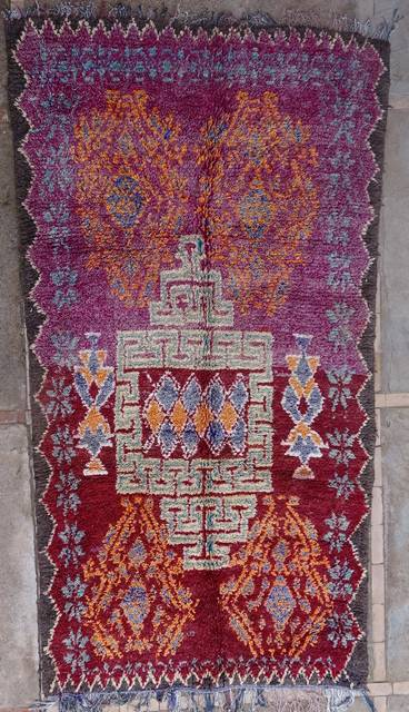 WOOL Rugs - BENI OURAIN Beni Ourain and Middle Atlas Antique moroccan rugs VBJ41061  BOUJAAD