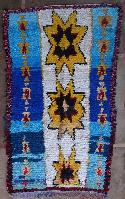 BOUCHEROUITE Boucherouite Medium moroccan rugs T41076