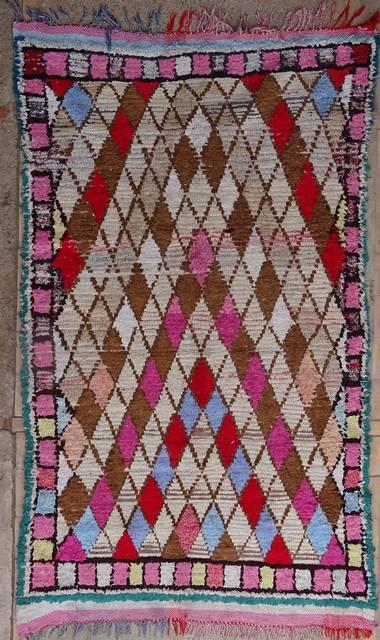 BOUCHEROUITE Boucherouite Medium moroccan rugs T41176
