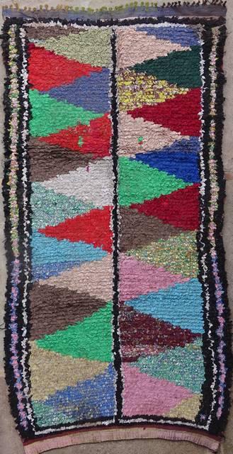 BOUCHEROUITE-KILIMS Boucherouite Medium moroccan rugs T42029