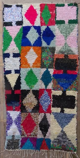 BOUCHEROUITE Boucherouite Large moroccan rugs L42033