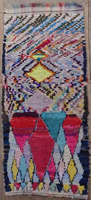 BOUCHEROUITE Corridor Boucherouite moroccan rugs C42041