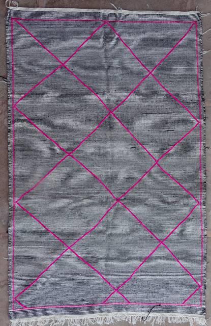 BOUCHEROUITE-KILIMS Boucherouite Large moroccan rugs LKBO42059  kilim