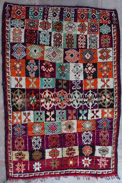 BENI OURAIN-WOOL RUGS Antique and vintage beni ourain and moroccan rugs moroccan rugs VBJ42078  BOUJAAD