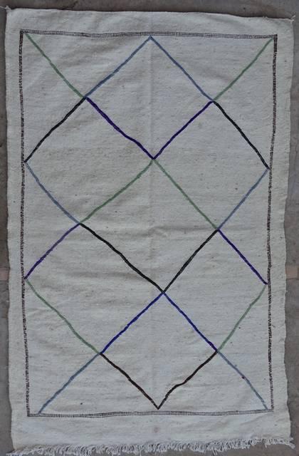 BOUCHEROUITE Boucherouite Small moroccan rugs TTKBO42095  kilim