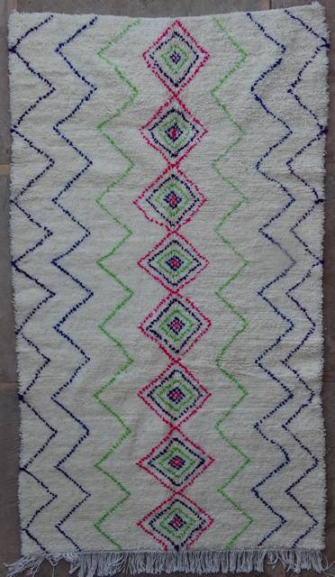 WOOL Rugs - BENI OURAIN Azilal rugs moroccan rugs AZ42106-175 euros 200 $
