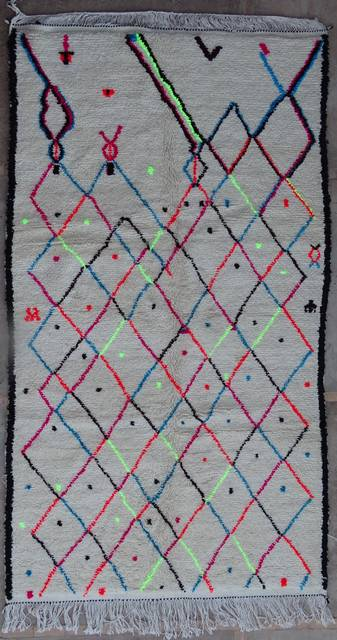 WOOL Rugs - BENI OURAIN Azilal and Ourika moroccan rugs AZ42116-190 euros 215 $