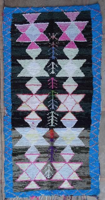 Boucherouite Large moroccan rugs L42131