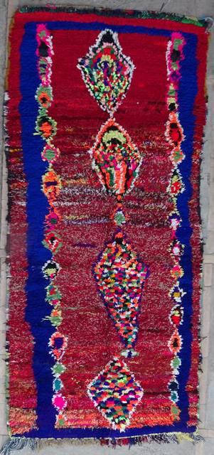 Boucherouite Corridor rugs moroccan rugs C42157
