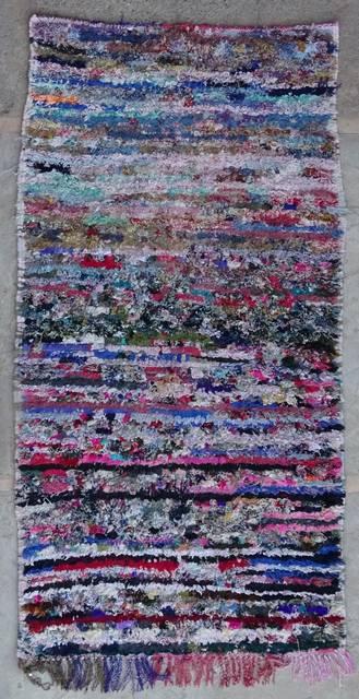 BOUCHEROUITE Boucherouite Mittlere Berber Teppich T42167