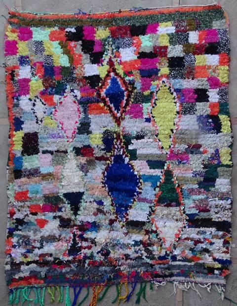 Archive-Sold Boucherouite moroccan rugs L42173 reserve geraldine