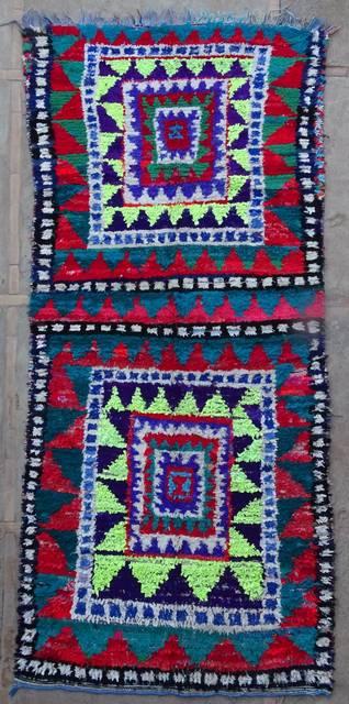 BOUCHEROUITE Boucherouite Large moroccan rugs L42174