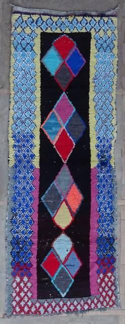 Boucherouite Corridor rugs moroccan rugs C42182