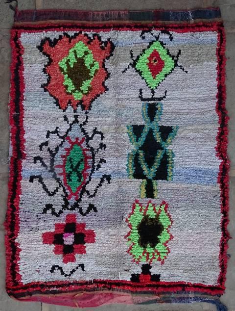 Boucherouite Large moroccan rugs L42196