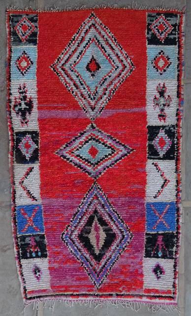 BOUCHEROUITE Boucherouite Large moroccan rugs L42225