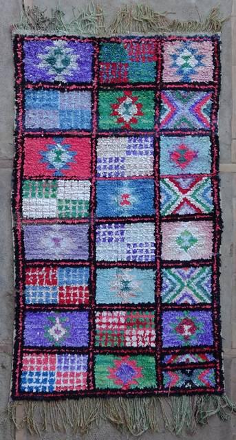 Boucherouite Medium moroccan rugs T42238