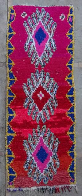 Boucherouite Corridor rugs moroccan rugs C42244