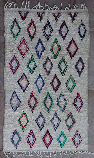 WOOL Rugs - BENI OURAIN Azilal and Ourika moroccan rugs AZ42261-188 euros 215 $