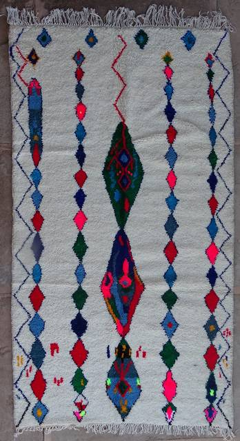 WOOL Rugs - BENI OURAIN Azilal and Ourika moroccan rugs AZ42267-205 euros 230 $