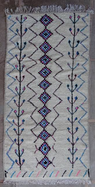 WOOL Rugs - BENI OURAIN Azilal rugs moroccan rugs AZ42271-205 euros 232 $
