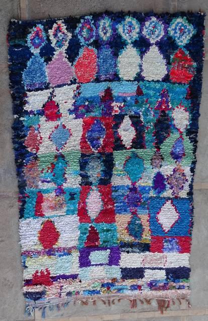 BOUCHEROUITE Boucherouite Large moroccan rugs L42344