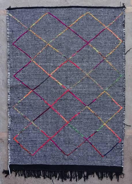 BOUCHEROUITE Boucherouite Small moroccan rugs TTKLBO42358  kilim