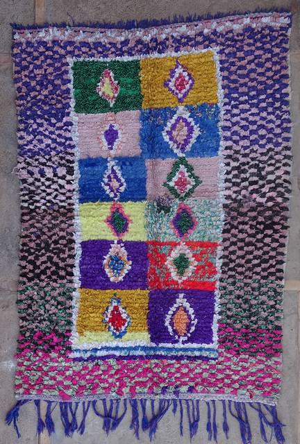 BOUCHEROUITE Boucherouite Medium moroccan rugs T42363