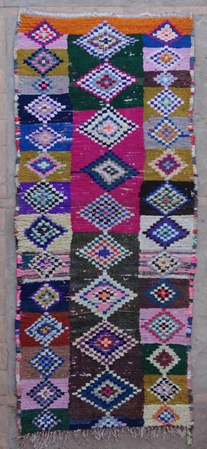 Boucherouite Corridor rugs moroccan rugs C42369