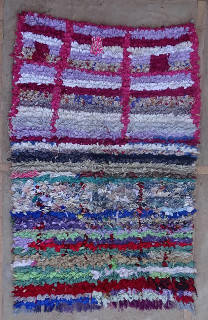 BOUCHEROUITE Boucherouite Medium moroccan rugs T42372