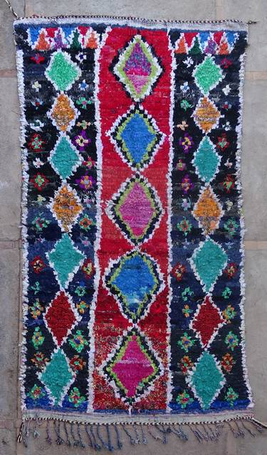 Boucherouite Large moroccan rugs L42386