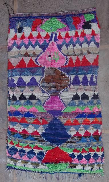 BOUCHEROUITE Boucherouite Mittlere Berber Teppich T42387