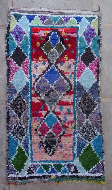 BOUCHEROUITE Boucherouite Medium moroccan rugs T42397