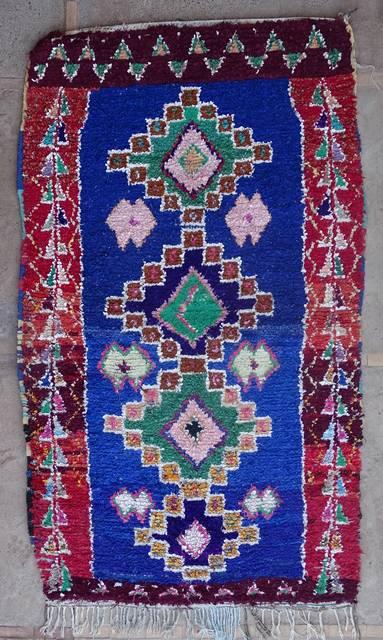 BOUCHEROUITE Boucherouite Mittlere Berber Teppich T42398