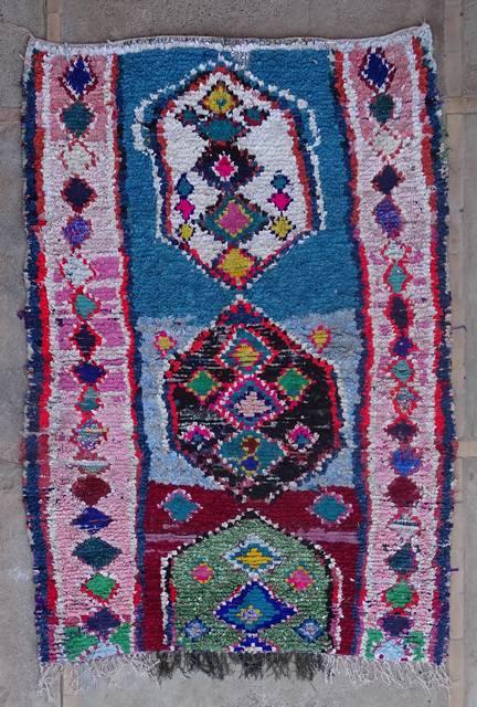 BOUCHEROUITE-KILIMS Boucherouite Medium moroccan rugs T42401