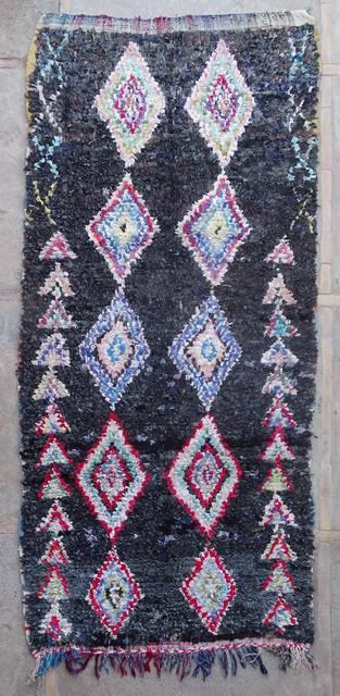 Boucherouite Large moroccan rugs L42406