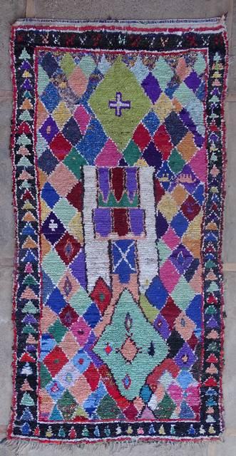 Boucherouite Large moroccan rugs L42407