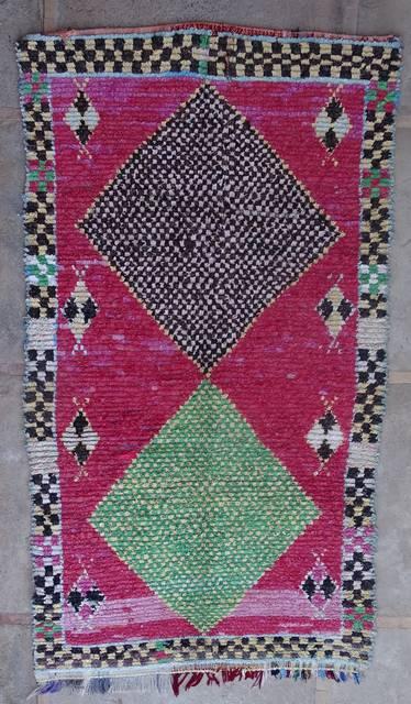 BOUCHEROUITE Boucherouite Large moroccan rugs L42408