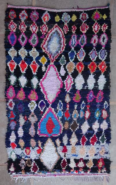 Boucherouite Large moroccan rugs L42412