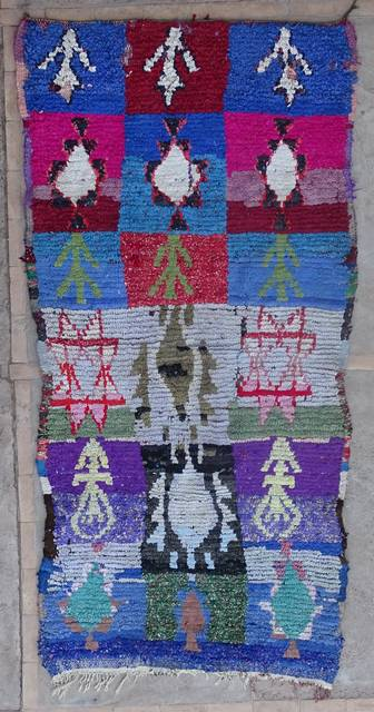 Archive-Sold Boucherouite moroccan rugs T42419