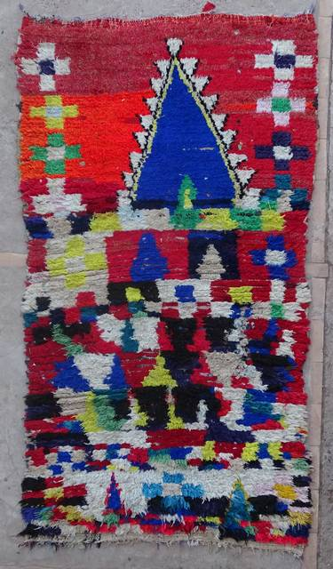 BOUCHEROUITE Boucherouite Medium moroccan rugs T42420