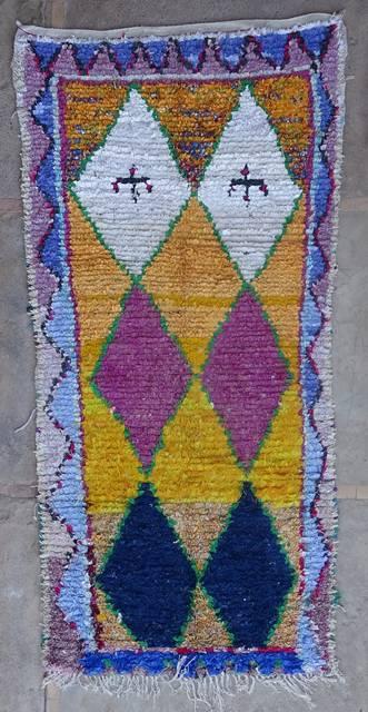 BOUCHEROUITE Boucherouite Medium moroccan rugs T42421