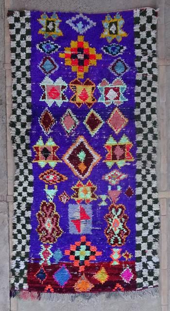 BOUCHEROUITE Boucherouite Medium moroccan rugs T42424