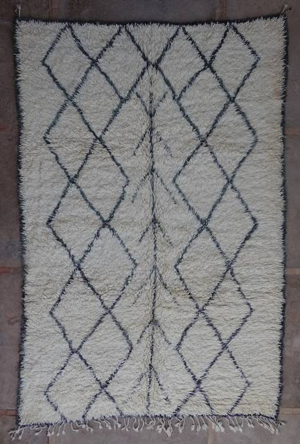 WOOL Rugs - BENI OURAIN Beni Ourain and Middle Atlas Antique moroccan rugs BOA43017 BENI OURAIN
