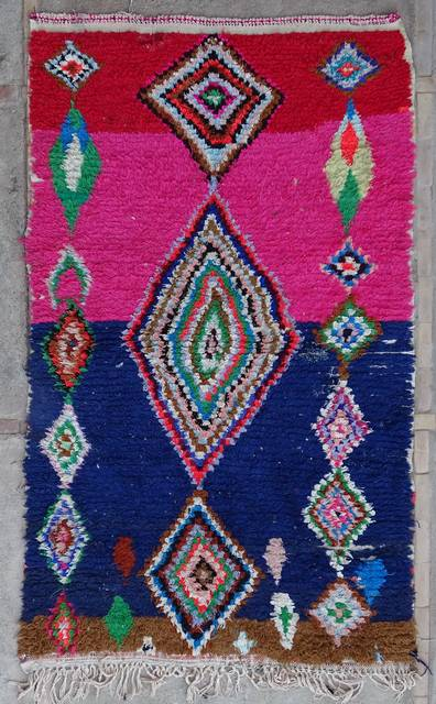 BOUCHEROUITE Collector Boucherouite moroccan rugs TC43059
